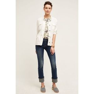 NEW Anthropologie Pilcro Parallel Selvage Jeans
